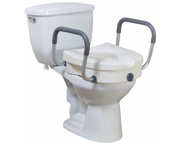 Drive Medical Raised Toilet Seat with Removable Arms