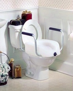 Clamp on Raised Toilet Seat with Arms