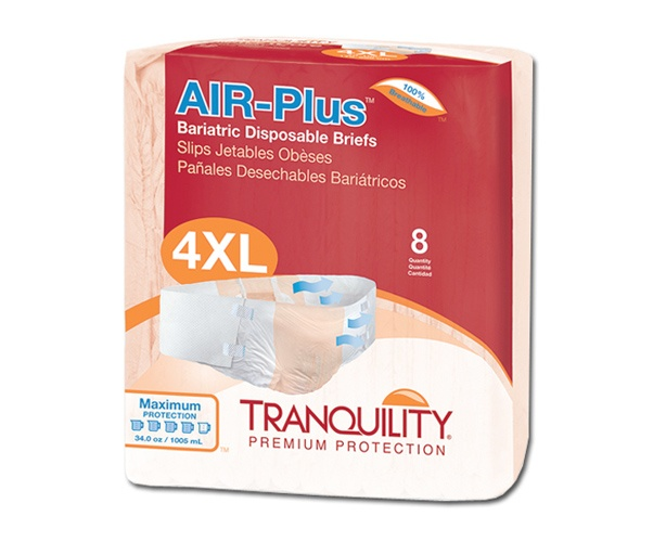 Principle Business Enterprises Tranquility AIR-Plus Bariatric Disposable Briefs