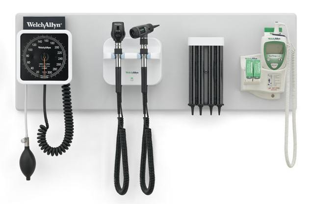 Welch Allyn Green Series 777 Wall System w/Coaxial Ophthalmoscope