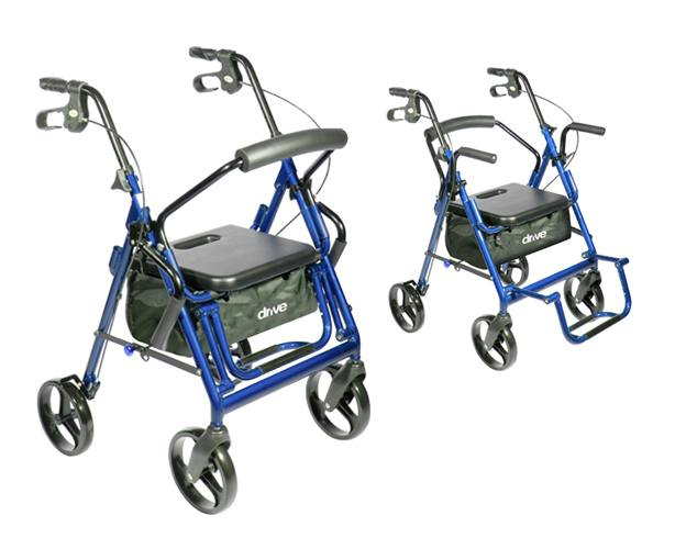 Duet Transport Wheelchair Chair Rollator Walker