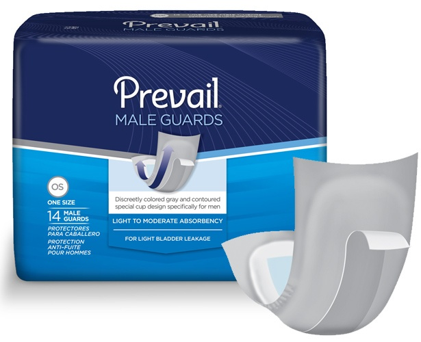 Prevail Incontinence Products Prevail Male Guards - Extra Absorbent