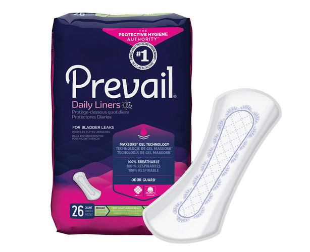Prevail Incontinence Products Prevail Pantiliners for Light Bladder Leakage