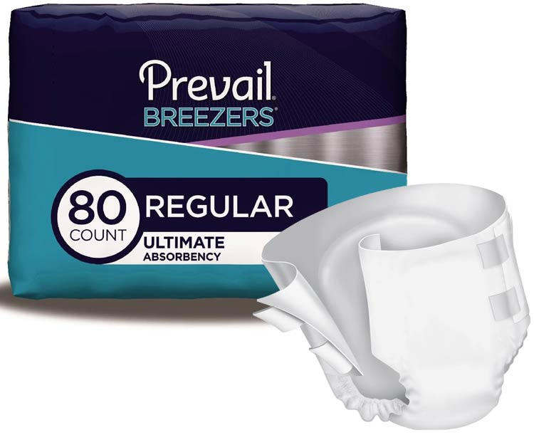 Prevail Incontinence Products Prevail Breezers Adult Diaper Briefs