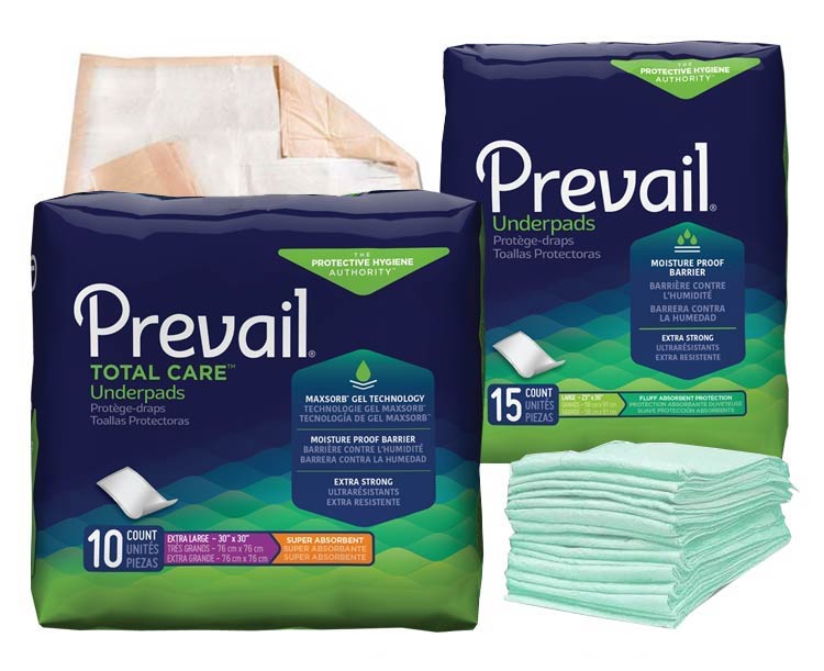 Prevail Incontinence Products Prevail Underpads