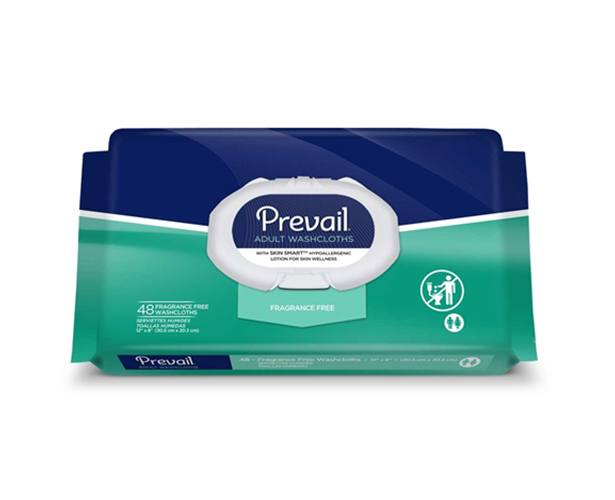 Prevail Incontinence Products Prevail Fragrance Free Adult Washcloths