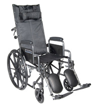Drive Medical Silver Sport Full Reclining Wheelchair