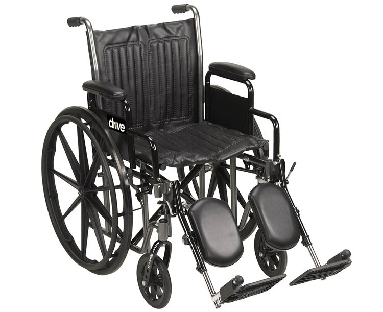 Drive Medical Silver Sport 2 Wheelchair- 18 in. width