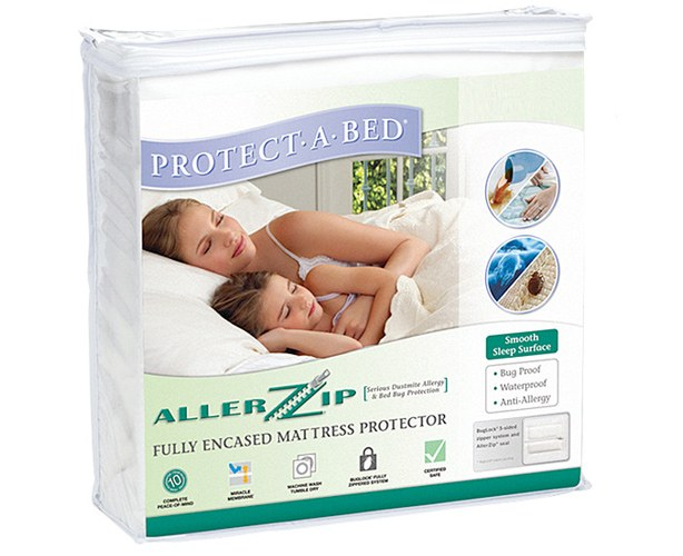 AllerZip Bedding Encasement - Complete protection against allergens, dust mites and bed bugs for a healthy, allergy-free sleep zone