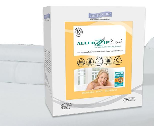 Allerzip Bedding AllerZip Smooth Mattress Protector, Anti-Allergy & Bed Bug
