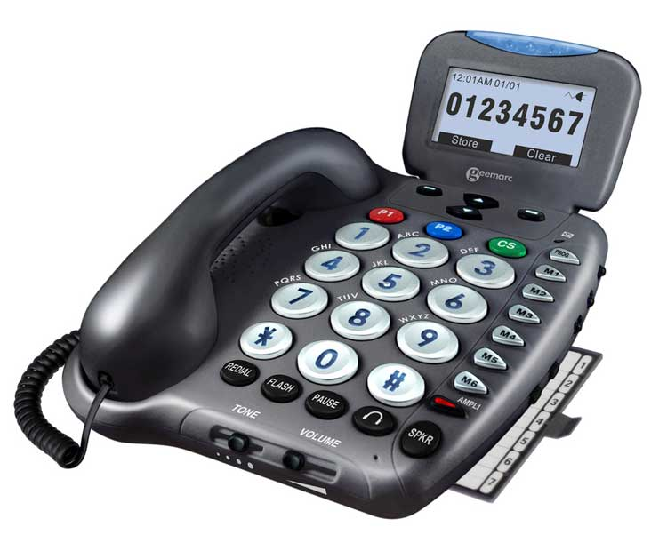 Amplified Corded Telephone with Emergency Connect