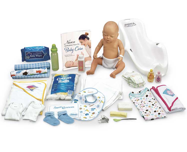 Anatomical World Wide Nasco Baby Care Kit with Female Baby