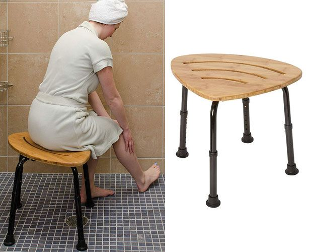 Mabis DMI Bamboo Shower Chair Stool