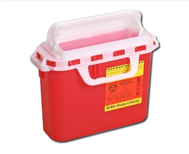 BD Sharps Container, Red