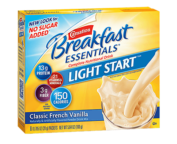 Nestle Nutrition Carnation Breakfast Essentials No Sugar Added Powder Mix