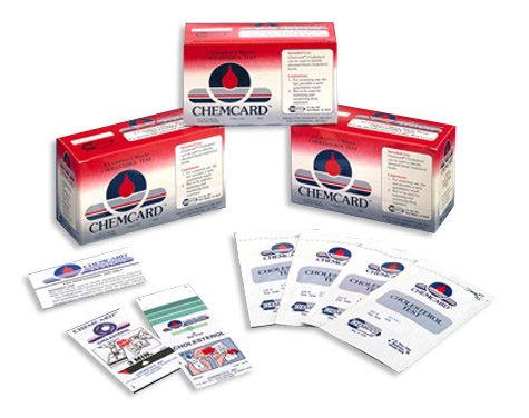 Chematics Inc. Chemcard Cholesterol Screening Test Strips