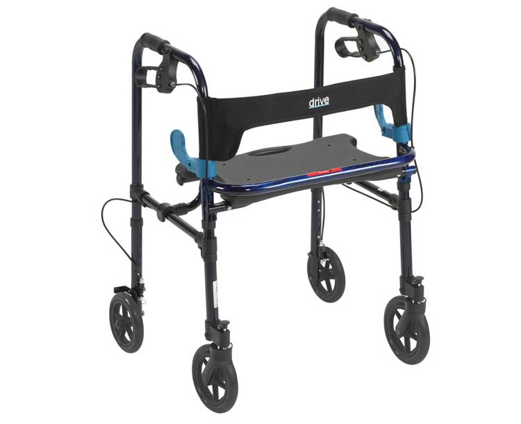 Drive Medical Clever-Lite Walker with Seat with 8