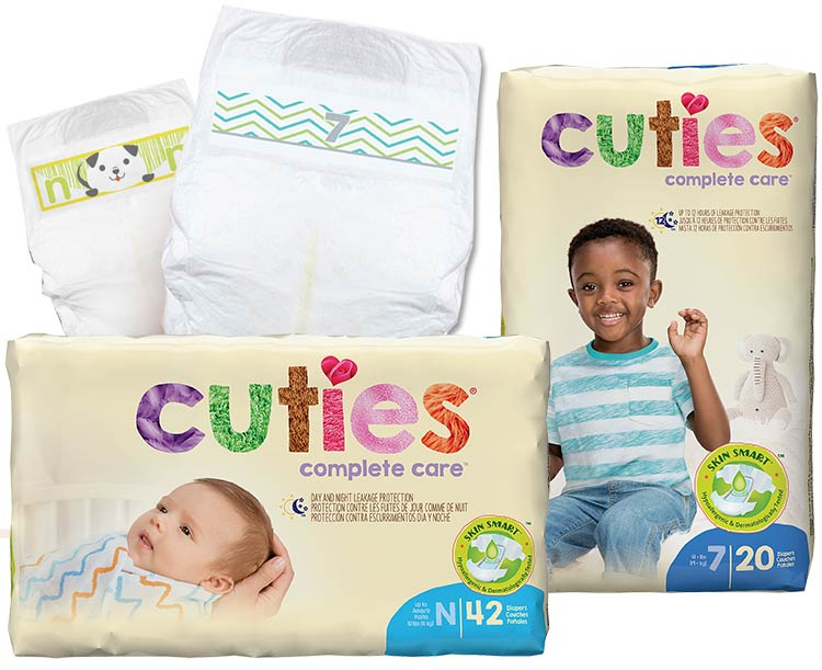 First Quality Products Cuties Complete Care Baby Diapers
