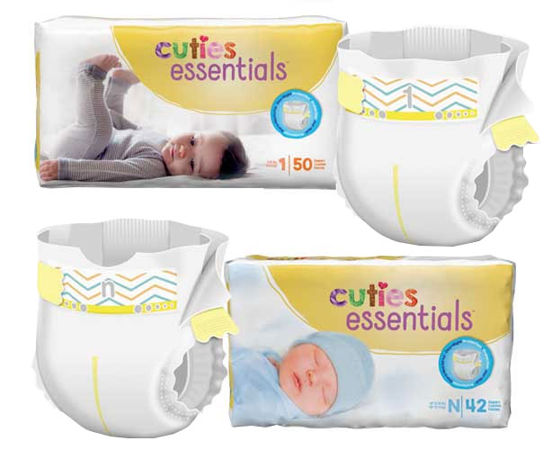 First Quality Products Cuties Essentials Baby Diapers