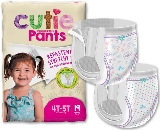 Cuties Training Pants, Refastenable - Girls