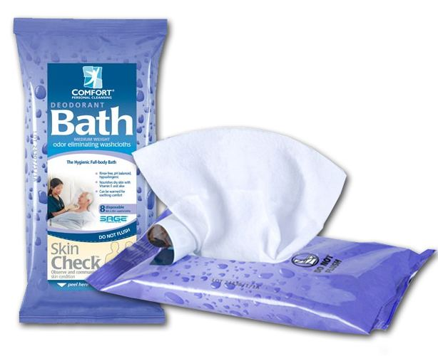 Deodorant Comfort Bath Wipes