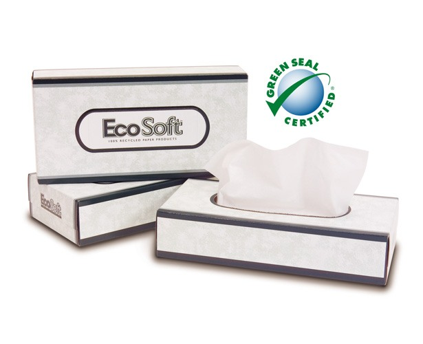 Mydent International EcoSoft Facial Tissue, 2-ply (Green Seal Certified)