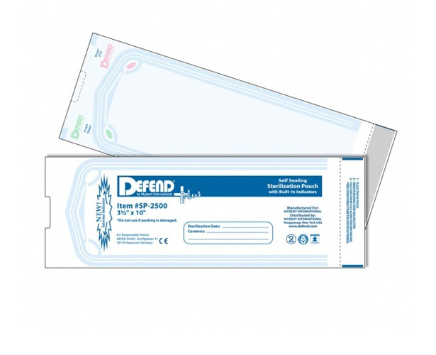 Defend Sterilization Pouches with Internal Indicator Strips