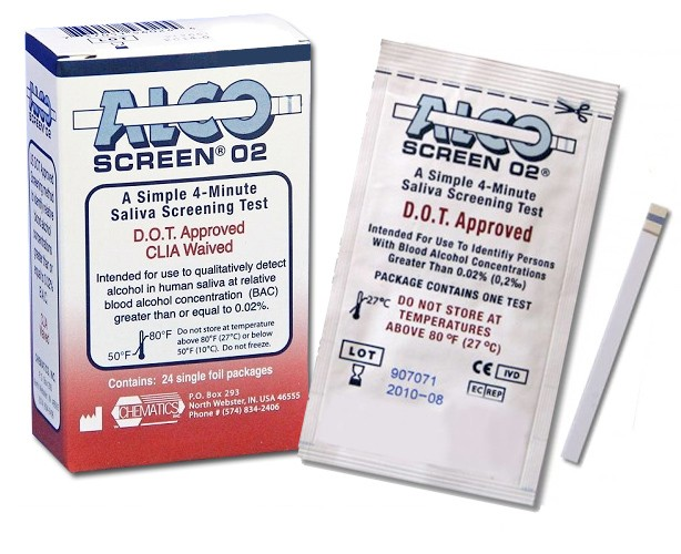 Alco-Screen 02 Alcohol Test Strips (DOT Approved)