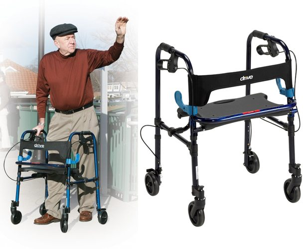 Drive Medical Clever Lite Walker with Seat