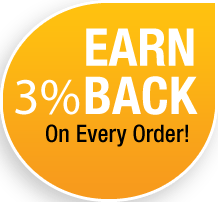 Earn 3% Back on orders 11/15/17 to 12/31/17