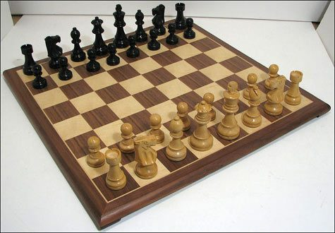 Mark of Westminister Ebonized French Staunton Chess Set
