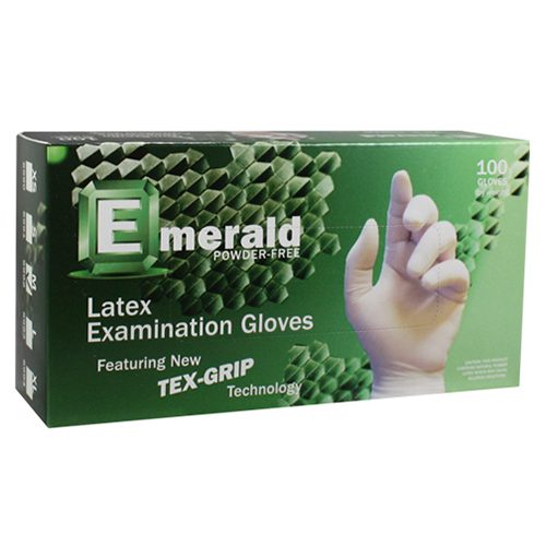 Emerald Latex Powder Free Gloves