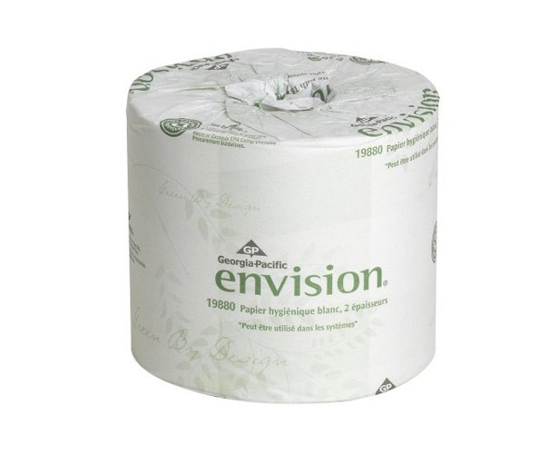 Envision Embossed Bathroom Tissue, 2-ply