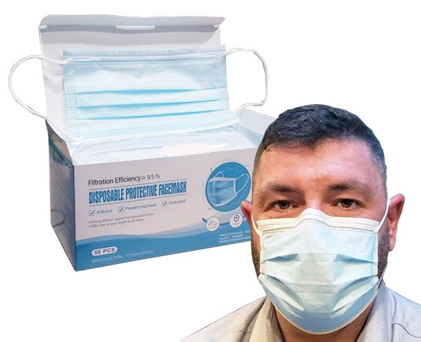 Motianshidai Medical Disposable Protective Face Mask, 200 each
