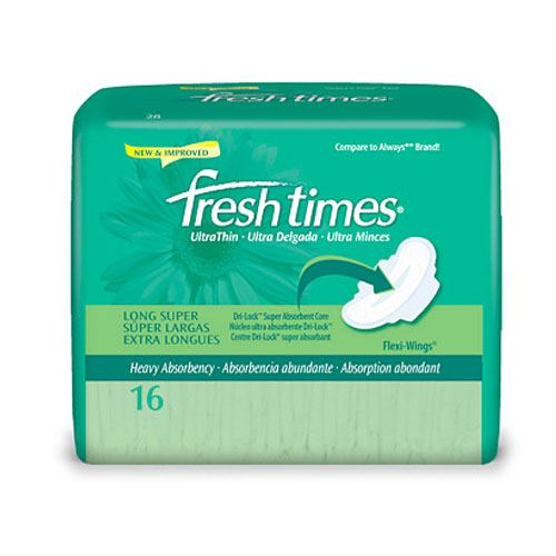 First Quality Products Fresh Times Maxi Pads with Wings