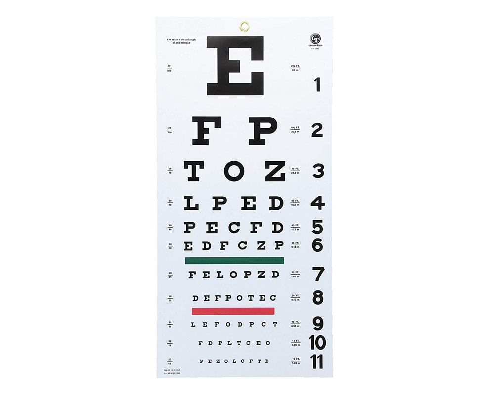 Graham Field Snellen Plastic Eye Chart