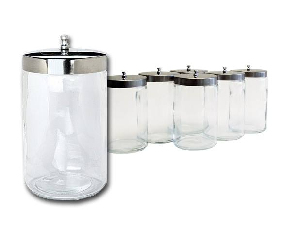 Graham Field Glass Sundry Jars with Stainless Steel Covers