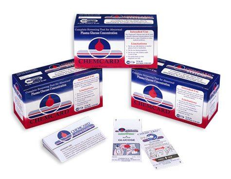 Chemcard Glucose Screening Test Strips