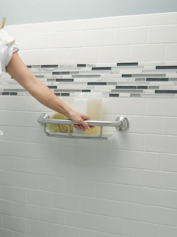Moen Grab Bar with Integrated Shelf
