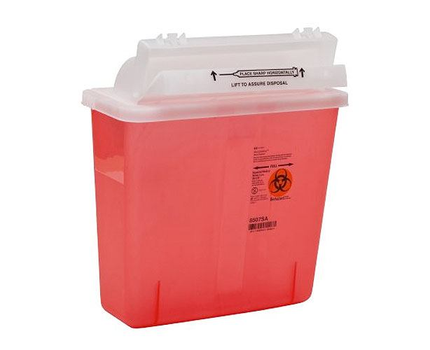 Covidien Medical IN-ROOM Sharps Container, 5 Quart with Sharpstar Lid