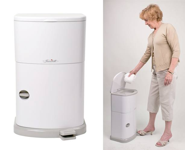 Janibell Disposal Systems Janibell Odor Free Adult Diaper Pail