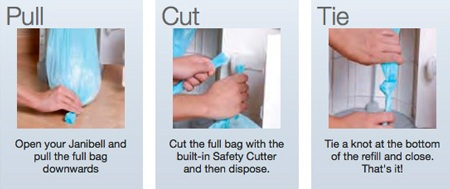 Janibell Liner Refills for Diaper Pail Demo