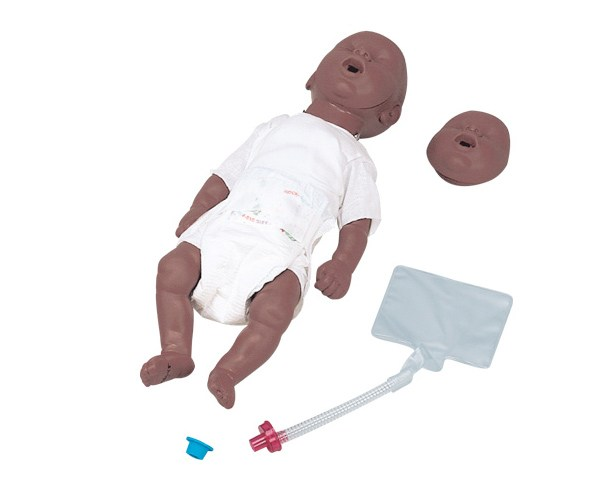 Anatomical World Wide Kim Newborn African-American CPR Manikin With Carry Bag