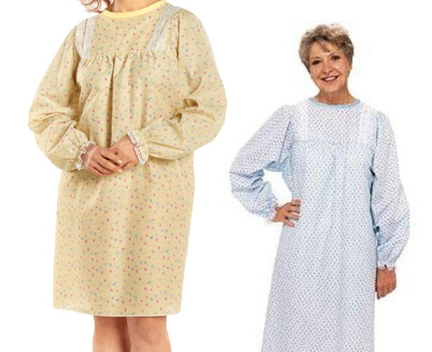 LadyLace Patient Gown Long Sleeve