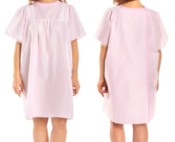 LadyLace Patient Gown Short Sleeve