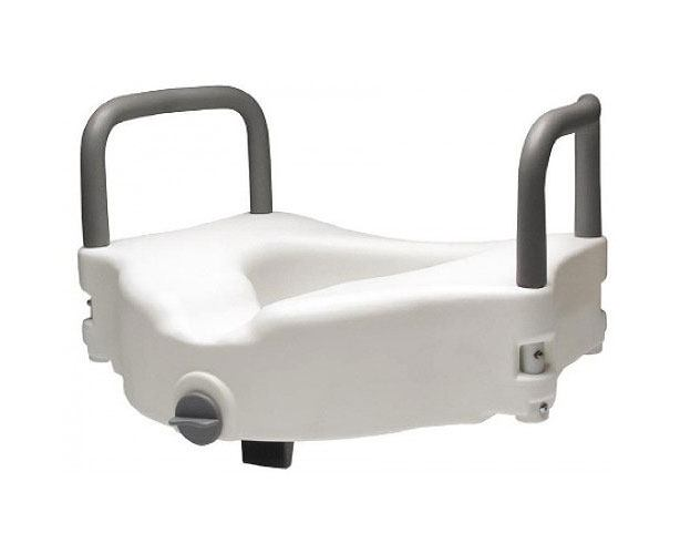 Lumex Locking Raised Toilet Seat with Removable Arms