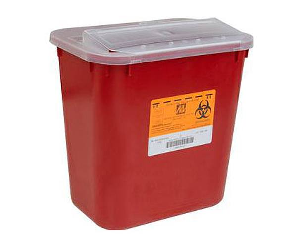 Medical Action Medical Action Sharps Container, Red