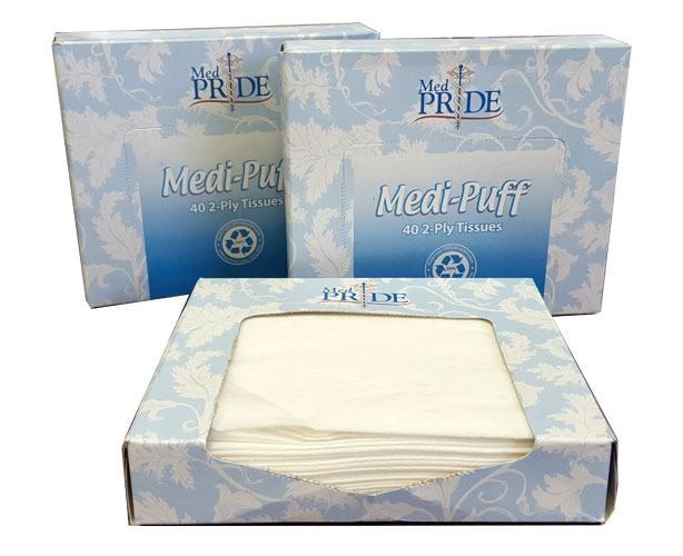 Medpride Health MediPuff Facial Tissues, Junior Size, 40 ct