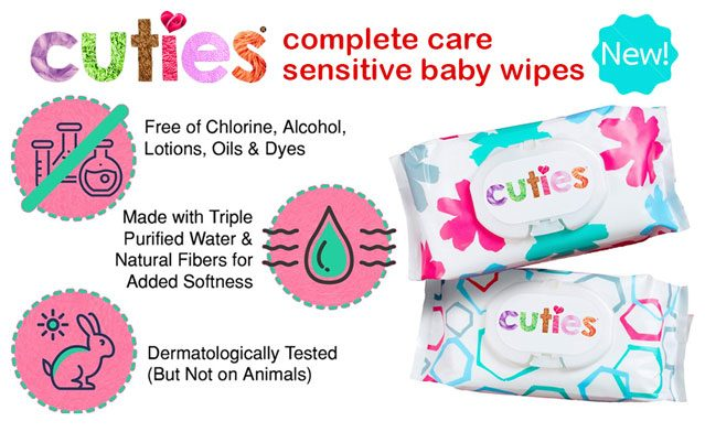 Cuties Complete Care Sensitive Baby Wipes