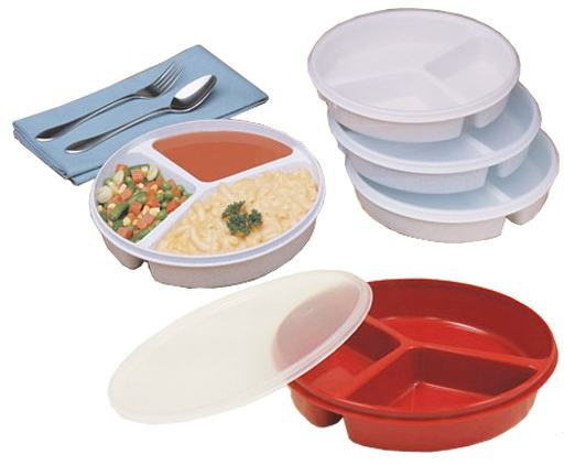 Partitioned Scoop Dish w/ Lid